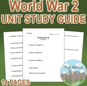 World Struggle II Unit Research Information (U.S. Historical past / World Historical past) | TpT