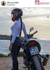 Mädchen auf Mädchenradfahrer des Fahrrades (Motorrad)   – Motorcycle girl – #a…