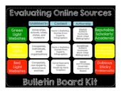 Evaluating Online Sources Bulletin Board {Units of Study: Research Writing}