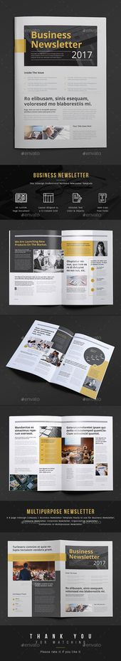 Professional \ Corporate InDesign newsletter template that can be - company newsletter