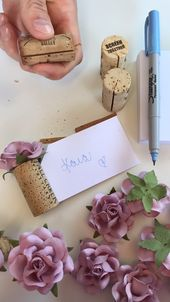 DIY Wedding Place Card Holder
