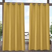 Exclusive Home Delano Grommet Top Light Filtering Window Curtain Panels