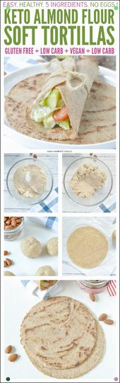 Almond Flour Tortillas Keto Low Carb Vegan. An Easy 5 Ingredients Recipe To Make…