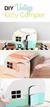 Günstige DIY-Katzenbett-Ideen, DIY-Katzenbett, Katzenbett, Katzenbett-Ideen, Katzenbett für … #d…