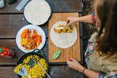 Burrito petit déjeuner Scramble végétalien végétalien   – Vegan recipes