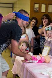 Günstige Babyparty-Preisidee + Babyparty in Pink und Gold   – Baby shower for boy