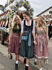Dirndl, traditional costume, girls, friends, Oktoberfest, Oktoberfest, #dirndl