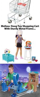 Melissa & Doug Toy Einkaufswagen mit stabilem Metallrahmen   – Toy