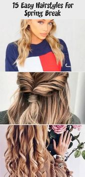 15 Easy Hairstyles For Spring Break