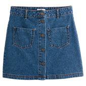 Jupe en jean, droite, 2 poches plaquées   – A/W 2019