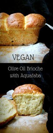 Vegane Olivenölbrioche mit Aquafaba. Dies hat eine leichte, fast federleichte Krume und