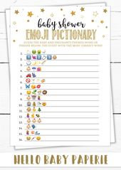 Baby Showers Twinkle Baby Emoji Pictionary, Pregnancy Pictionary Game, Twinkle Twinkle Little Star Baby Shower