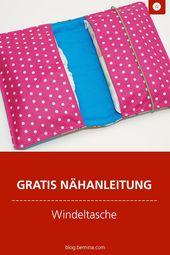 Gute Laune Wickeltasche für unterwegs   – Nähen für Baby & Kind