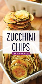 Easy Oven-Baked Zucchini Chips – Healthy Baked Zucchini Chips