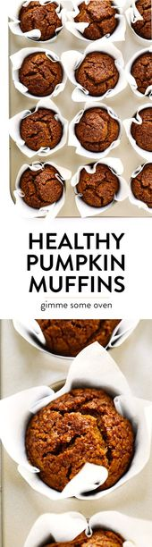 12b3d5cee75e2d527948ba086d3bd4ca LOVE this healthy pumpkin muffins recipe! Theyre naturally gluten free, natural...
