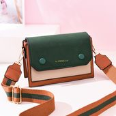 New slant purse on ins the brand new 2019 Korean model of the one-shoulder bag vogue type and texture of the small sq. bag