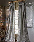 Pom Pom at Home Each 42W x 96L Smocked Linen Curtain