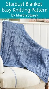 Baby Blanket Knitting Pattern for Easy Star Baby Blanket Stardust Throw by Martin Storey