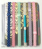 DIY Cuadernos Planner Band - Gold Foil Polka Dot Planner Band - Planner Accessory - Pen Holder...
