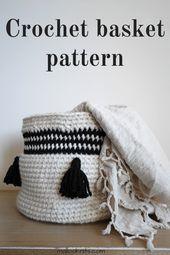 Large crochet basket pattern – The Maja basket