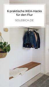 6 praktische IKEA-Hacks für den Flur   – Flur & Garderobe – Ideen zum Gestalten