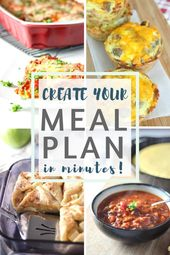 How I Create My Weekly Meal Plan In Minutes