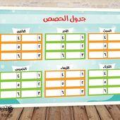 جدول حصص الاسبوعي المدرسي جاهز للطباعة شكل 6 Home Decor Decor Home