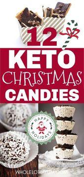 ¡12 recetas navideñas de Keto son los mejores postres navideños bajos en carbohidratos y ceto! Wh …