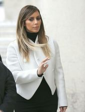 2014-02-21 Kim Kardashian wears Proenza Schouler Fall 2013 Jacket in Palais Gall… – Beste Haarstyling Männer Feines Haar
