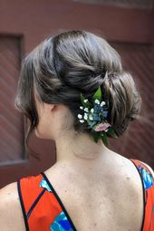 elegant updo with floral headpiece   hairstyle by goldplaited   wedding updo   prom updo   wedding hairstyle idea   #gp #wedding #hairstyle #prom #pro...