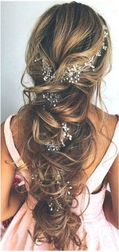 Our favorite wedding hairstyles for long hair ❤ More information: www.weddingforwar #Frisurenlang #frisuren # hairstyleslong2019 #frisuren …