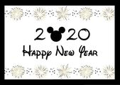 Blissful New 12 months 2020 with gold firework Mickey Mouse head – DOWNLOAD PDF