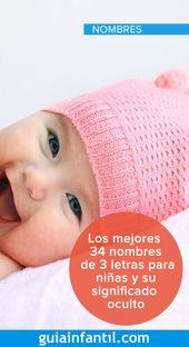 Los Mejores 34 Nombres De 3 Letras Para Niñas Y Su Significado Oculto Nombres De Niñas Cortos Nombres De Niñas Letras Para Niños