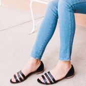 Madewell Shoes | Madewell – Leila Flat Strappy Sandal | Color: Black | Size: 7 – Products