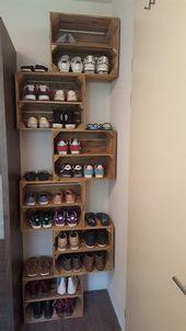 Legende Heute zeigen wir Ihnen einige schöne Möglichkeiten, um Ihre Schuhkollektion zu organisieren