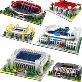 Great Football Stadium Field Gym Model Building Block Sets Architecture Spain En…