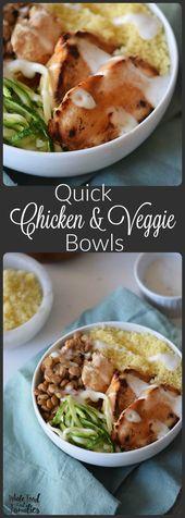 Quick Chicken and Veggie Bowls