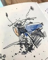 61+ trendy motorcycle drawing inspiration – Watercolour – #Drawing #Inspiration …
