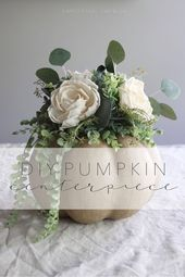 Floral Pumpkin Centerpiece Tutorial | Simply Ciani