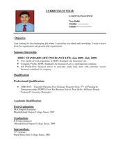 Resume Format Pdf Sample Resume Format First Job Resume Job
