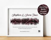 Will You Marry Me Reward, Distinctive Marriage Proposal Souvenir Print with Sound Wave and QR Code, Personalised Engagement Items for Fiance