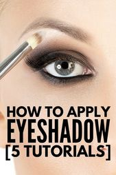 5 tutorials to show you how you can apply eyeshadow correctly