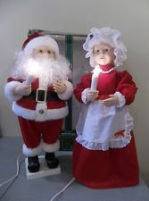 telco motionettes christmas telco motionette animated christmas mrs santa claus pair lights decor - Animated Christmas Dolls
