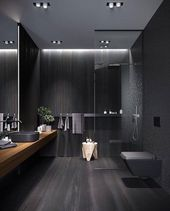 #Black #bathroom #interiordesign – bhupinder matharu