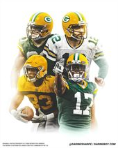 Aaron Rodgers Jimmy Graham Aaron Jones Davante Adams Green Bay Packers Green Bay Packers Packers Aaron Rodgers