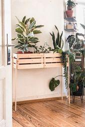Pflanzenständer mit IKEA Kisten selber bauen