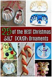 25 der besten Weihnachtssalzteig-Ornamente