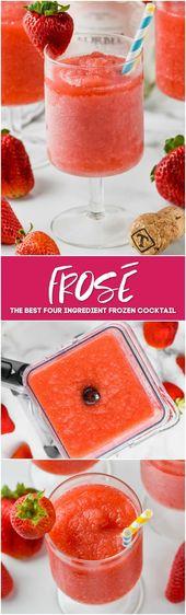 Wenn Sie ein Liebhaber von Rose sind, müssen Sie dieses Strawberry Frose Rezept versuchen, um …   – Cocktail Recipes