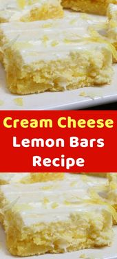 "Cream Cheese Lemon Bars Recipe  ""believe me, Nothing brings a recipe to lif…"