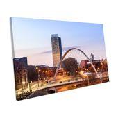 Mercury Row Leinwandbild Manchester bei Sonnenuntergang | Wayfair.de
